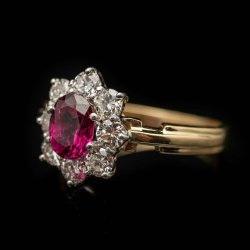 Ladies 14k Two tone Ruby and Diamond Ring. Ruby = .75ct Dia = .88cttw $2750