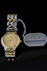 Ladies 18ky and Stainless Steel Omega Deville. Quartz. $750